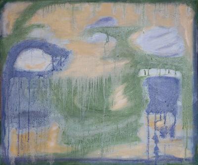Kevät sulaa, 2020-21, öljy kankaalle, 46 x 54 cm