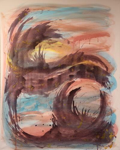 Nimetön, 2021, akryyli kankaalle, 100 x 80 cm