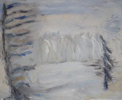 Ylläksellä, 2020, öljy kankaalle, 54 x 65 cm